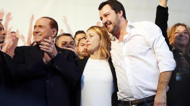 centrodestra, elezioni politiche, Giorgia Meloni, Matteo Salvini, Silvio Berlusconi, Sicilia, Politica