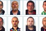 Pizzo a Belpasso, nomi e foto degli otto arrestati