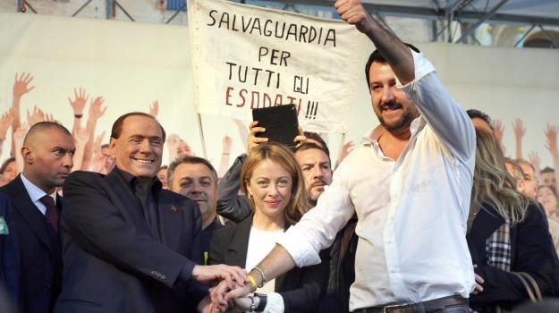 centrodestra, Lega Nord, Matteo Renzi, Matteo Salvini, Silvio Berlusconi, Sicilia, Politica