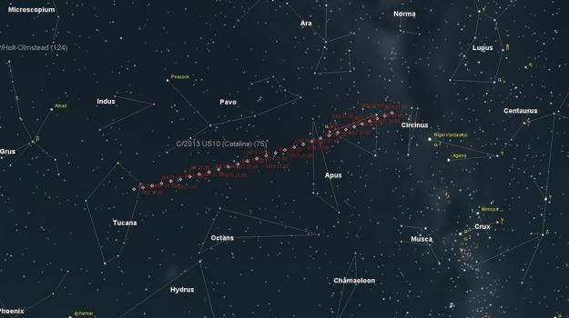 catalina, cometa di natale, Sicilia, Società