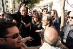 Ressa a Ercolano per l'arrivo del ministro Boschi - Foto