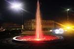 Arredo urbano, Bianco inaugura la fontana di piazza Europa