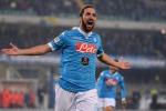 L'attaccante del Napoli Gonzalo Higuain
