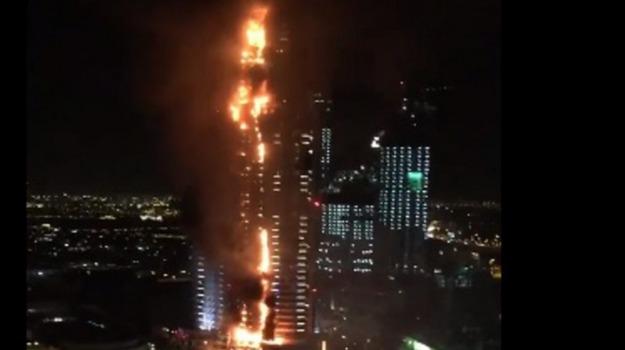 Dubai, incendio hotel, Sicilia, Mondo