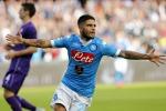 L'attaccante del Napoli Lorenzo Insigne