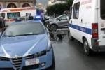 Scontro polizia-utilitaria a Palermo: le immagini da piazza Giulio Cesare - Video