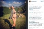 In bikini (a gennaio) Elena Santarelli mostra il pancione: le foto