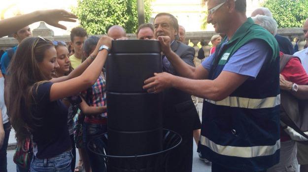 cestini, Palermo, rap, rifiuti, Palermo, Cronaca