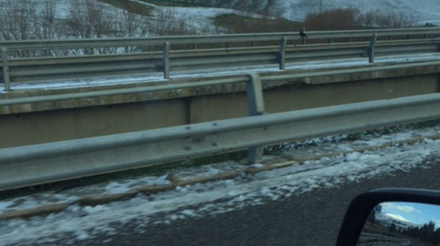Maltempo, meteo, nevicata, statale, Caltanissetta, Cronaca