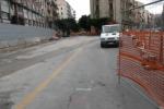 Anello ferroviario, ripartono i lavori: via Amari chiusa al traffico - Video