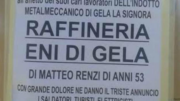 Gela, protesta, raffineria, Caltanissetta, Cronaca