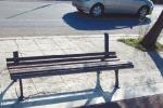La panchina divelta a Barcarello, foto inviata da Enzo Di Stefano a ditelo@gds.it