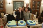 Il boss Procopio Di Maggio davanti alla torta per i suoi 100 anni