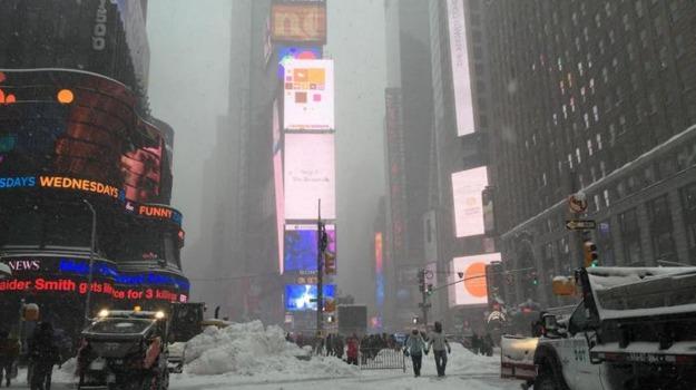 Stati Uniti, tempesta di neve, Sicilia, Mondo