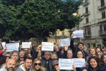 Una delle proteste dei lavoratori Almaviva a Palermo