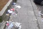 """Distrutti e pieni di rifiuti, marciapiedi di via Altofonte """"dimenticati"""""""