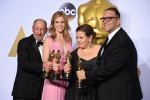 Mark Rylance, Brie Larson, Leonardo DiCaprio, Alicia Vikande per Revenant
