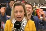 Giornalista belga molestata e derisa in diretta tv a Colonia - Video