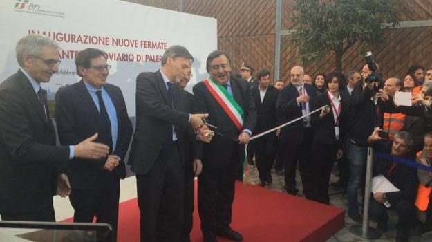 inaugurazione nuove stazioni palermo, passante ferroviario, stazione lolli, Graziano Delrio, Leoluca Orlando, Rosario Crocetta, Palermo, Cronaca