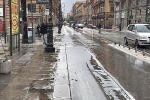 Palermo, un tratto di via Roma si allaga quando piove: pozzanghere a San Lorenzo