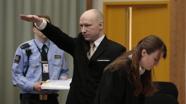 Norvegia, processo, saluto nazista, Anders Behring Breivik, Sicilia, Mondo