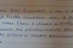 Una foto tratta dal profilo Facebook di Sabratha Media Center mostra Gino Pollicardo e Filippo Calcagno dopo la liberazione