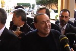 """Palermo, Berlusconi a Villa Igiea (video): """"Uniti possiamo tornare a vincere in Sicilia"""""""