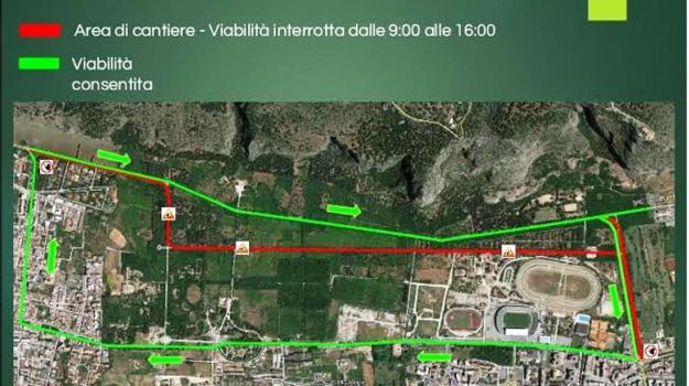 lavori favori palermo, traffico favorita, Leoluca Orlando, Palermo, Cronaca