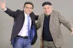 Il conduttore dello spettacolo Salvo La Rosa con l'attore Enrico Guarneri, in arte Litterio