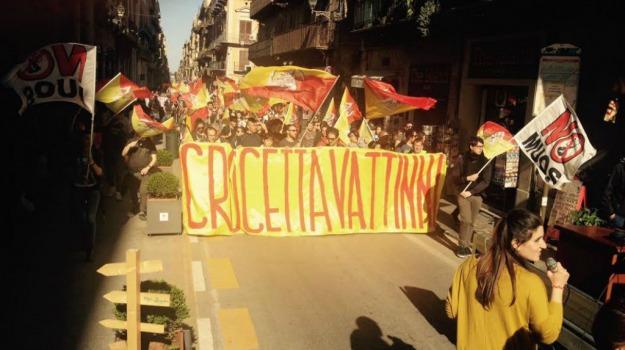 governo crocetta, manifestazione, Palermo, Sicilia, Politica