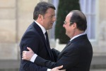 Renzi a Parigi: l'austerity non funziona, serve crescita