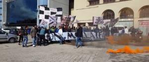 Una precedente protesta dei tifosi del Palermo