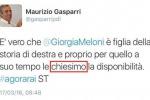 Errore nel tweet di Gasparri: si dimette responsabile