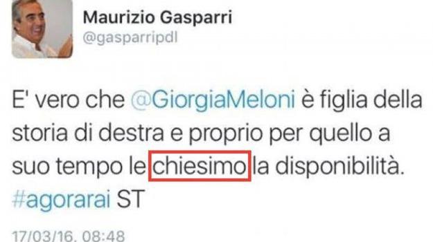 errore, twitter, Maurizio Gasparri, Sicilia, Politica