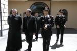 Visita dell'arcivescovo Lorefice ai carabinieri e pranzo con i poveri