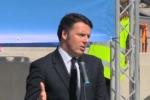 """Renzi al viadotto Himera: """"Riaprire le strade è la priorità"""" - Video"""
