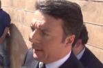 """Renzi: """"Vogliamo sistemare le strade in Sicilia"""""""