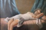 PIPPO RIZZO - Riposo di ragazza (s.d.) tecnica mista su carta 46x60