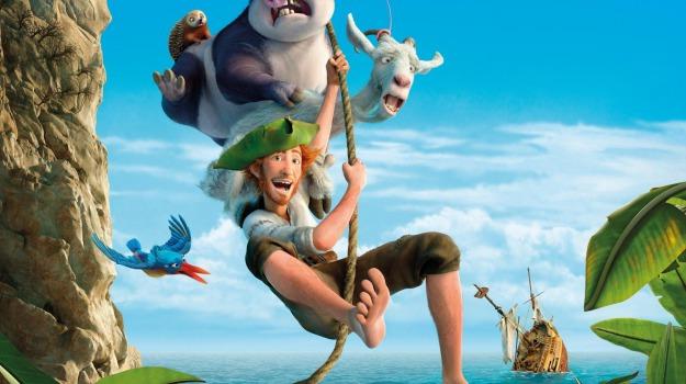 In un cartone animato le avventure di robinson crusoe il trailer