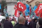 Pensioni e lavoro, sindacati in piazza a Palermo