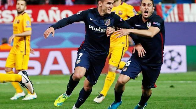 Atletico Madrid Barcellona, champions league, Sicilia, Sport