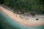 """Naufraghi scrivono """"help"""" su un'isola deserta e vengono salvati"""