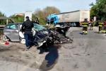 Tir travolge due auto tra Caltanissetta e San Cataldo, un ferito grave - Video