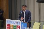 """Renzi a New York: """"Obiettivo? Portare al 50% le energie rinnovabili"""""""