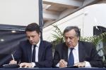 Renzi, patti a Palermo e Catania, 12 miliardi per la Sicilia. Riapre il viadotto Himera