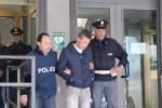 Gli arrestati all'uscita dal commissariato di Nicosia