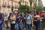 Almaviva, è ancora protesta a Palermo: leimmagini del corteo