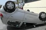 Auto si ribalta al Foro Italico, traffico bloccato - Video