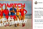 """Finite le riprese di """"Baywatch"""", sui social i primi scatti ufficiali del film"""