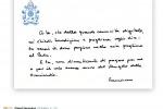 Nella giornata delle Comunicazioni Papa Francesco pubblica un suo biglietto sui social
